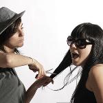 Cortándose el pelo